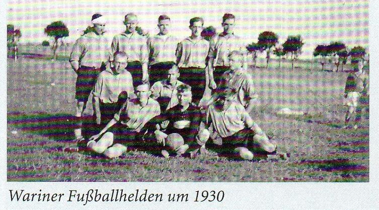 Wariner Fußballhelden um 1930