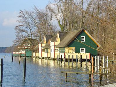 Bootshäuser am Klempowsee