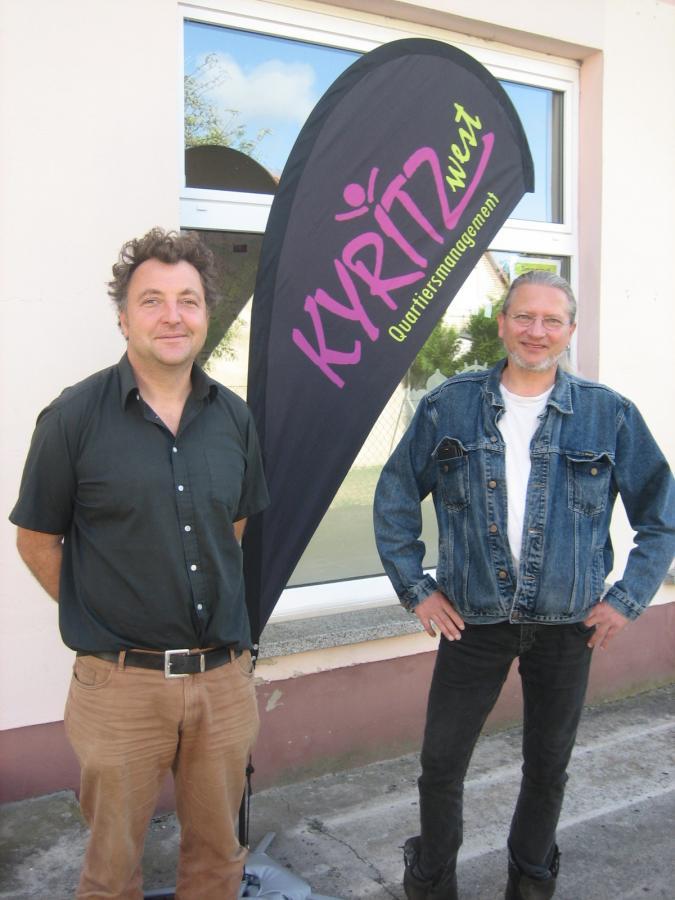 Die Quartiersmanager Jörg Mose und Christoph Malo (v.r.)