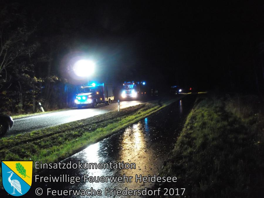 Einsatz 322/2017 | Motorradunfall | L40 OV Bindow - Friedersdorf | 10.11.2017