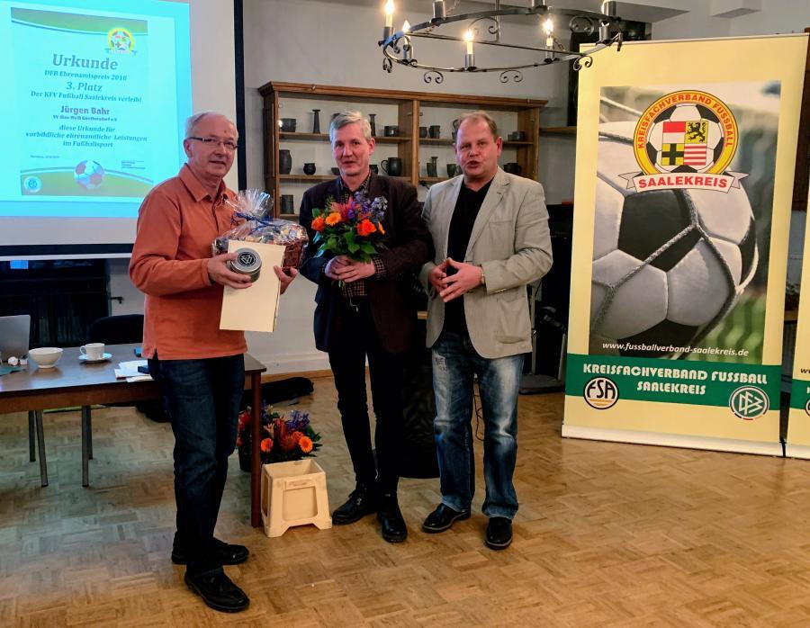 DFB-Ehrenamtspreisträger 2018 Jürgen Bahr (3. Platz)