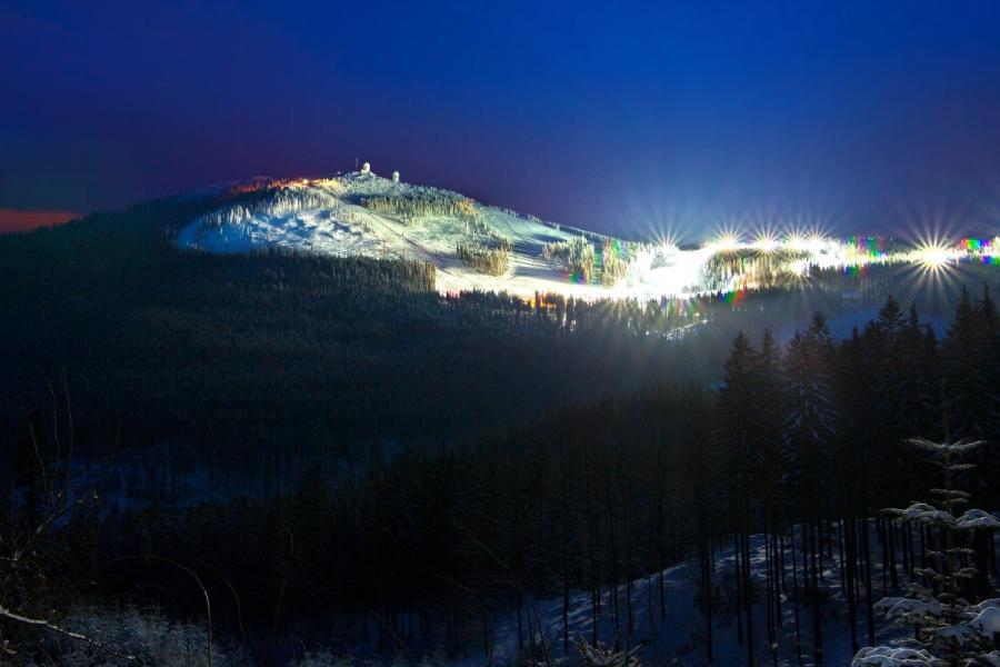 Nachtskifahren am Großen Arber
