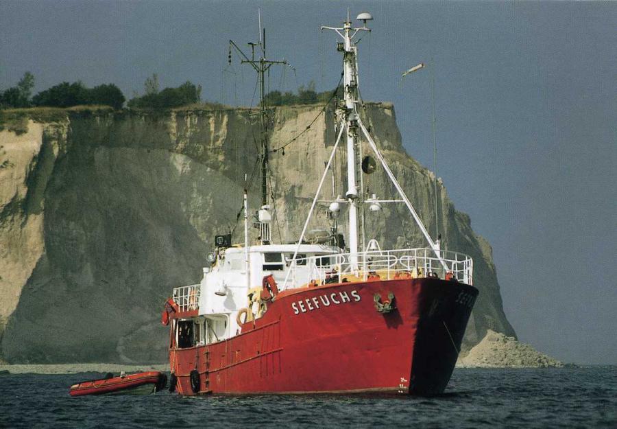 Tauchbasis Expeditionsschiff Seefuchs vor Kap Arkona