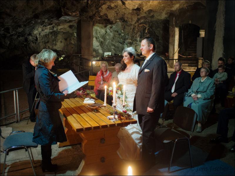 Trauung in der Marienglashöhle