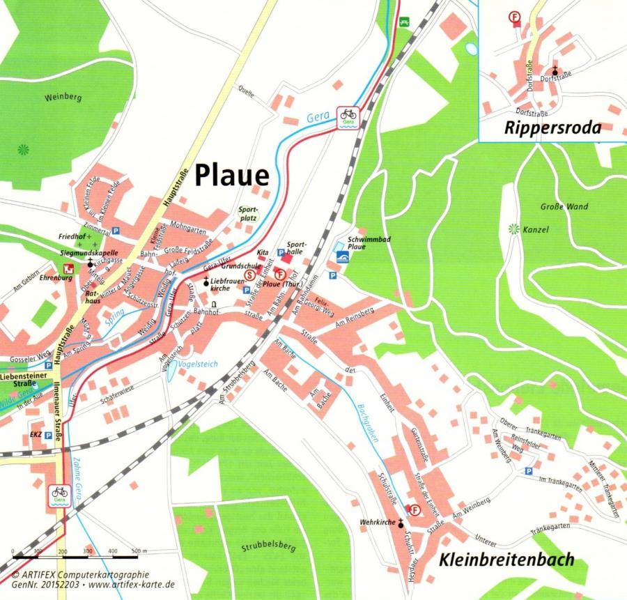 """Lageplan eingescannt aus Info-Broschüre der Verwaltungsgemeinschaft """"Oberes Geratal"""""""
