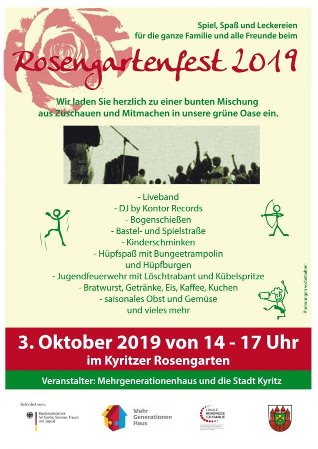Rosengartenfest 2019