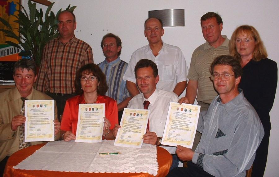 24.07.2005 Abschluss des Partnerschaftsvertrages in der Freibadgaststääte Zechin