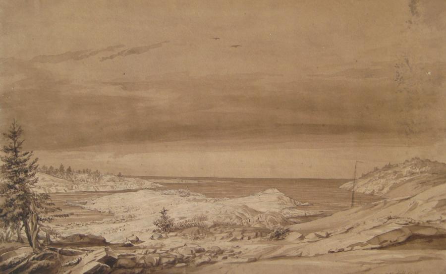 August Matthias Hagen, Eine Bucht bei Tammerfors, 1835