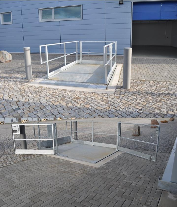 Verladebühne, Zugang Sonderausführung, Außenanlage