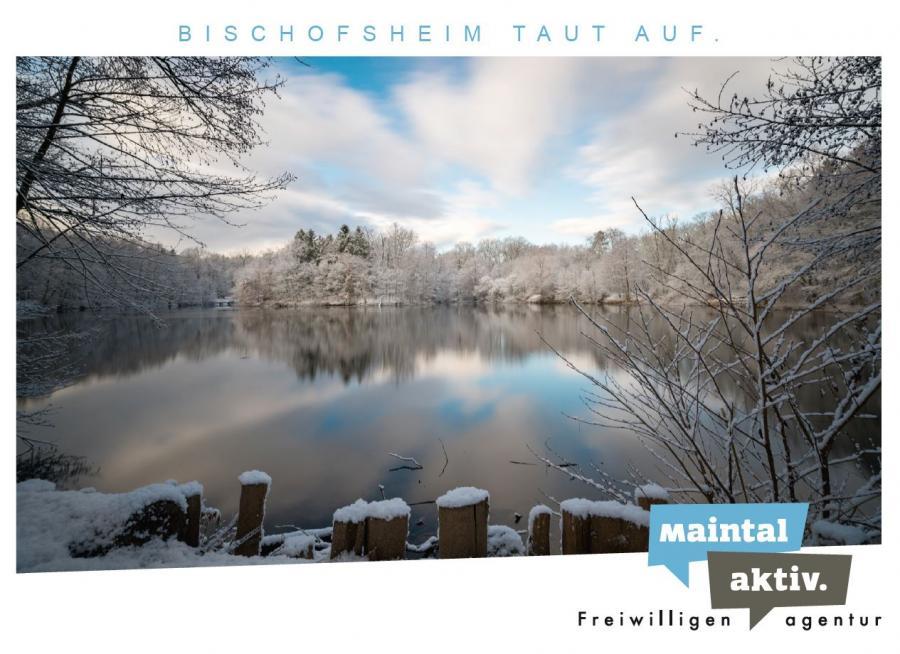 """Link führt zur PDF-Datei der Motiv-Postkarte """"Bischofsheim taut auf"""""""