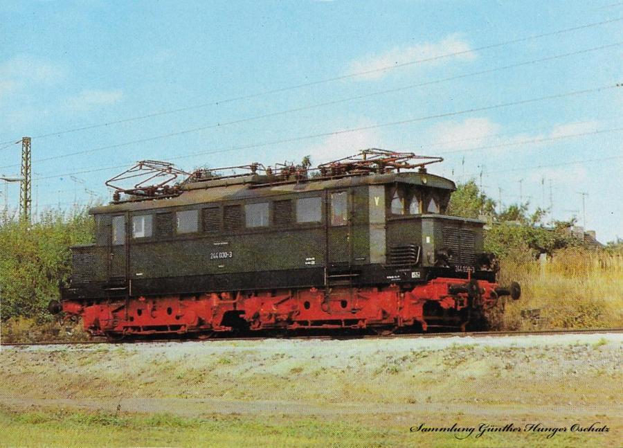 100 Jahre E-Lok Verkehrsmuseum Dresden  Elektrische Lokomotive der Baureihe 244 (früher E 44)