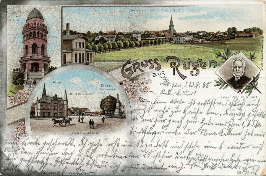 Gruss Rügen aus Bergen 1898