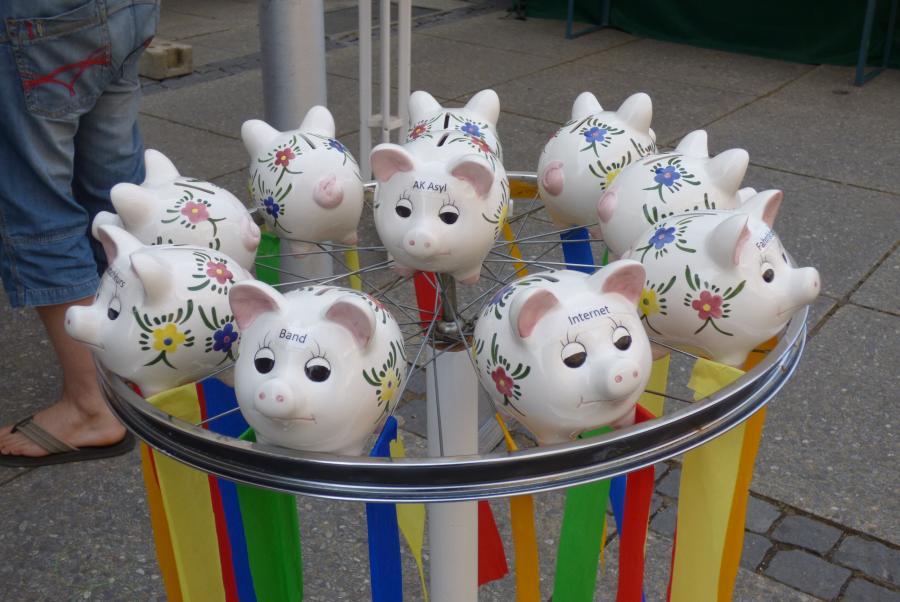 Schweinebande Glücksrad Ulrike Seiffert