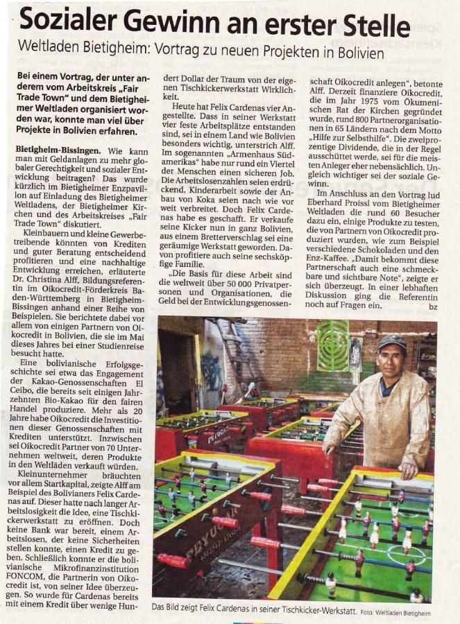 Bietigheimer Zeitung vom 04.11.2014