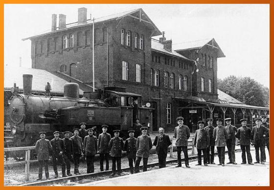 Der ehemalige Bahnhof von Triptis (Aufnahme um 1920)