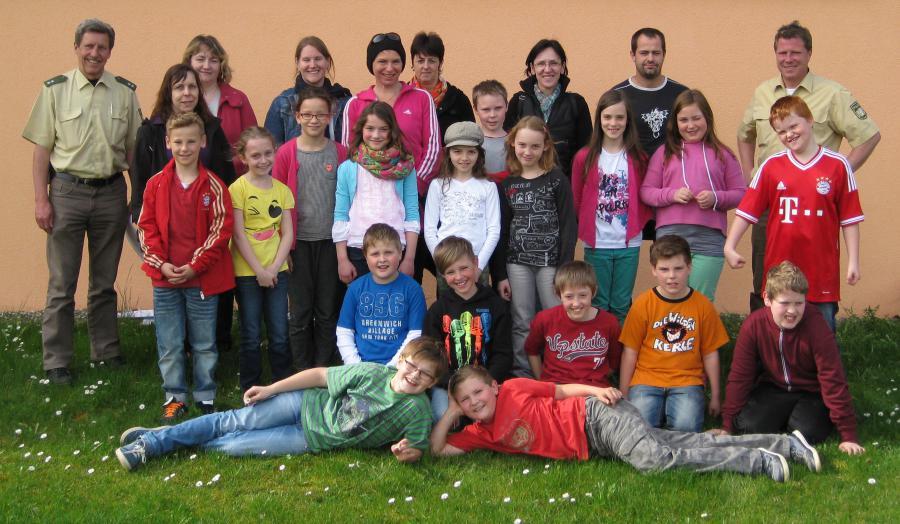 Jugendverkehrsschule 2014 Gruppenfoto