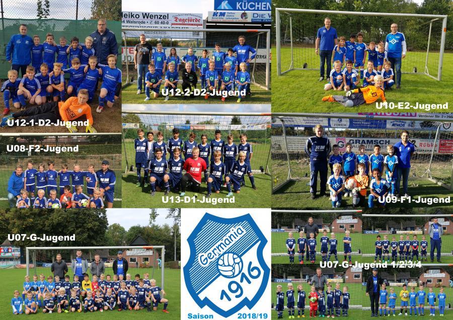 Jugend-Mannschaften 2018-19 Beschriftung