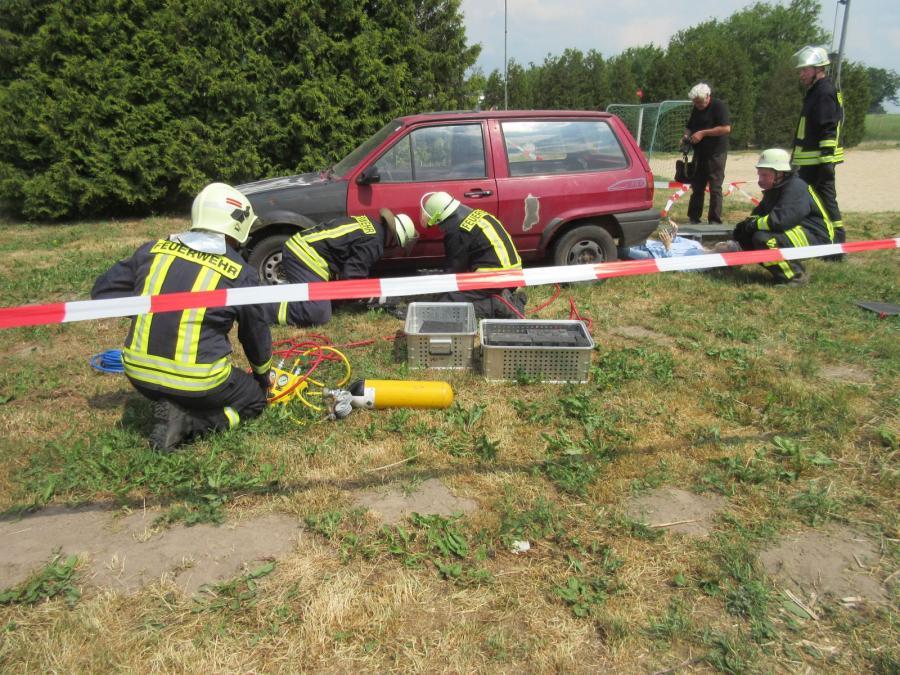 Demonstration technische Hilfeleistung