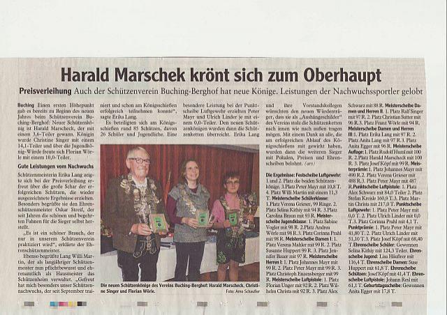 Harald Marschek krönt sich zum Oberhaupt