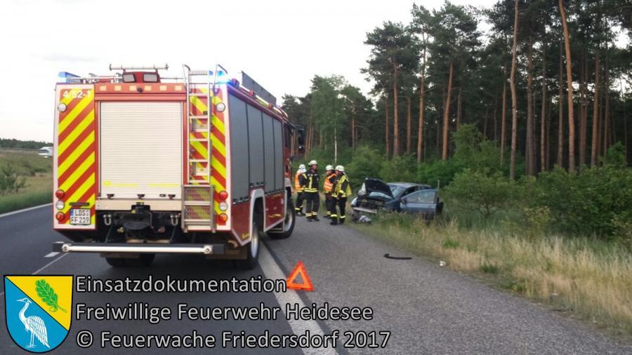Einsatz 62/2017 | PKW überschlagen | BAB 10 AS Niederlehme - AD Spreeau | 19.06.2017