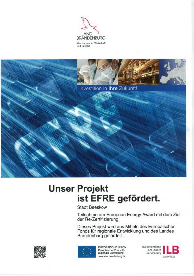 Plakat EFRE-Förderung