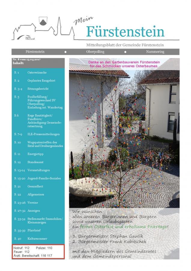 Gemeindeblatt Nr.8 .-S.1
