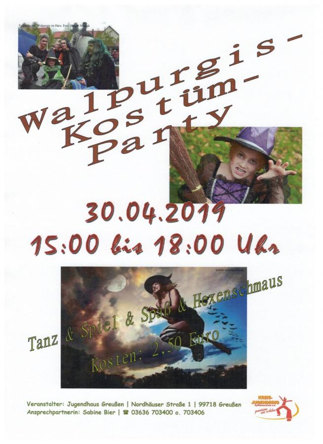 Walpurgisparty in Greußen