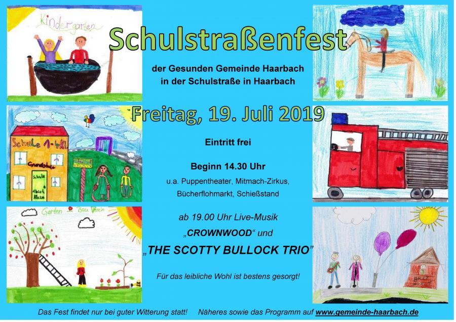 Schulstraßenfest Plakat