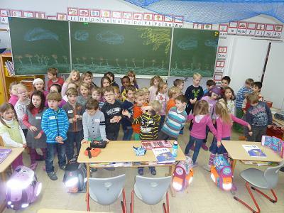 Besuch der Vorschulkinder in der 1.Klasse 2014