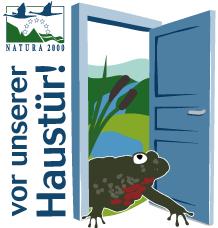 Logo Natura 2000 vor der Haustür