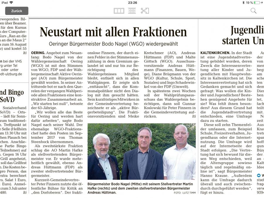 Segeberger Zeitung vom 23.06.2018