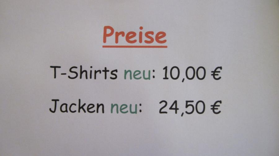 Preise Schulshirt
