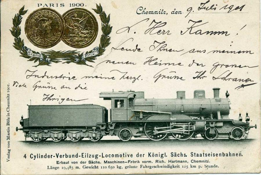 4 Cylinder Verbund Eilzug Locomotive der Königl. Sächs. Staatseisenbahnen