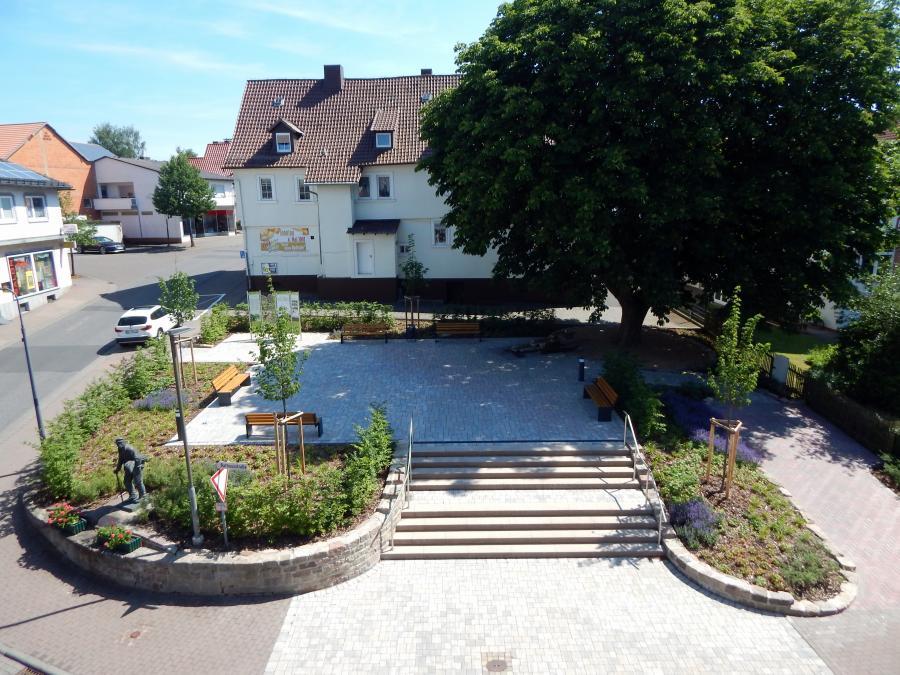 """Blick vom Rathaus auf den """"Hydepark"""""""