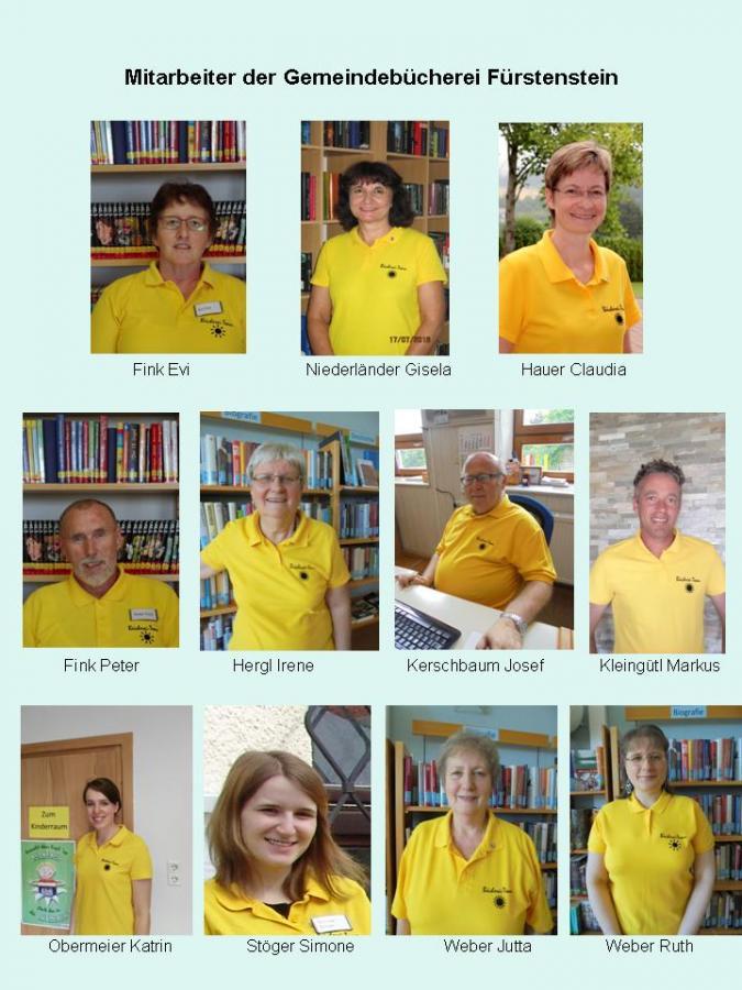 Die Mitarbeiter unserer Bücherei
