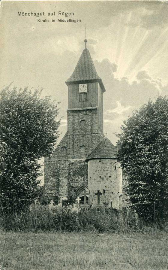 Mönchsgut auf Rügen Kirche in Middelhagen