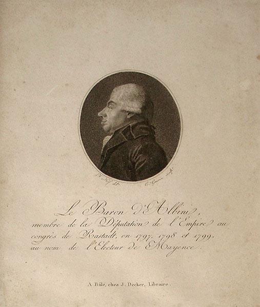 Porträt des Freiherrn von Albini, um 1800