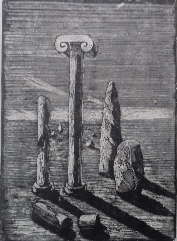 Veränderliche Materie1987 Zementsteindruck30 x 42 cm
