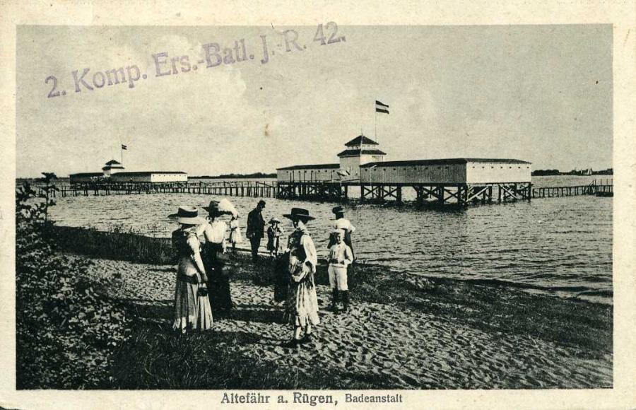 Altefähr a. Rügen Badeanstalt 1918