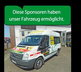 Unser Schulmobil und die Sponsoren