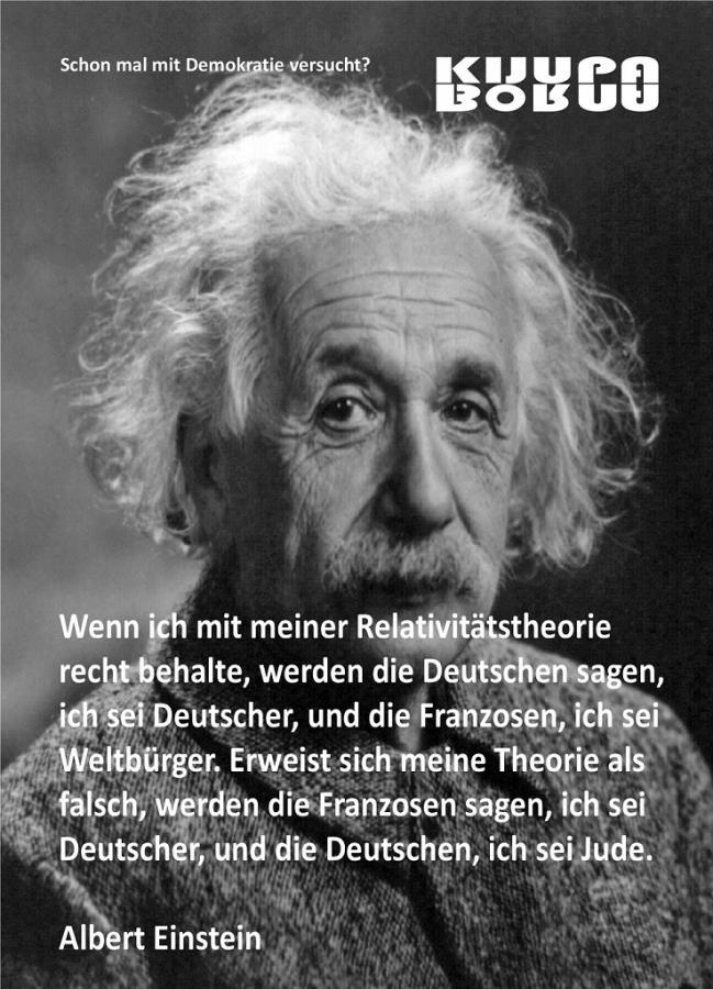 Einstein, Denkanstoß 001