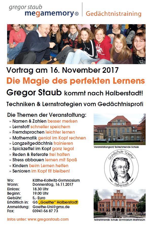 Gregor Staub kommt wieder nach Halberstadt...