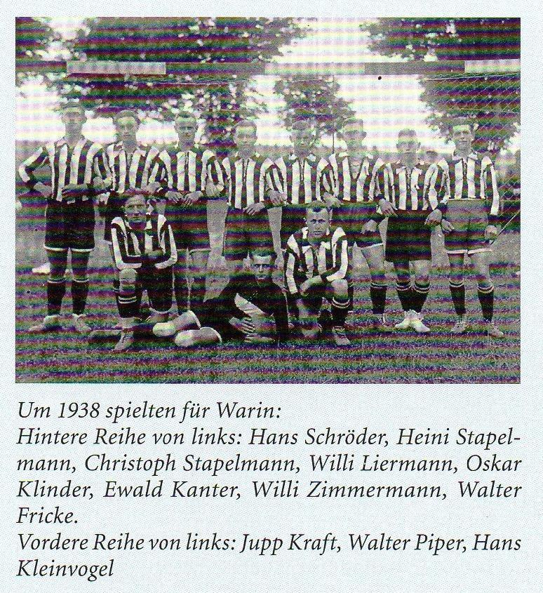 Wariner Mannschaft um 1938