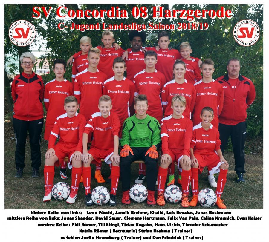 C-Jugend SV Concordia 08 Harzgerode Saison 2018/2019