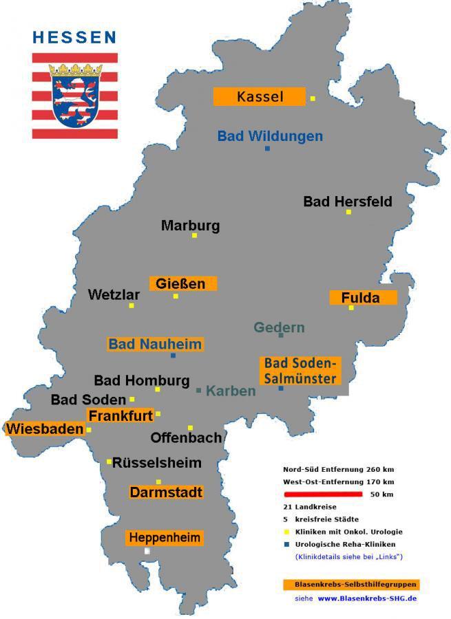 Hessenkarte mit Kassel