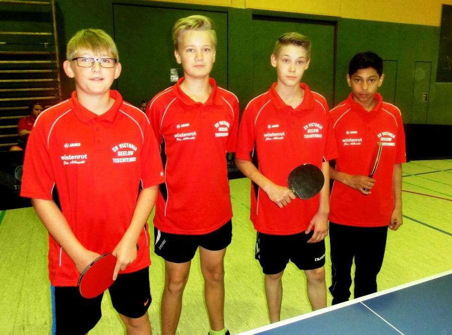 2.Schülermannschaft:Matti Nicolas Sagitz,Roman Heinschke,Nico Mann,Neboisa Stajonewicz