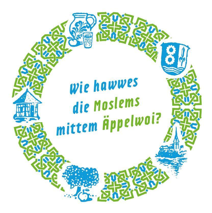 Bild zeigt Getränkeuntersetzer zu Wie hawwes die Moslems mittem Äppelwoi? Bild;Orient-Netzwerk e.V.