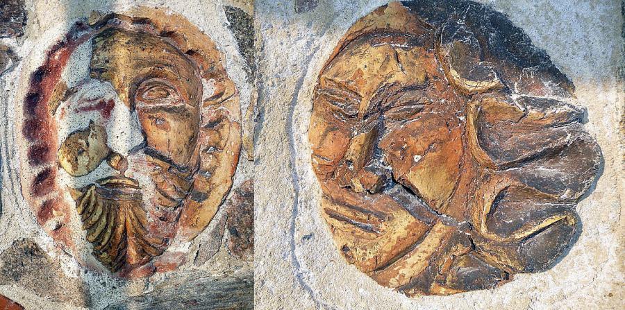 Gesichter in der Südfassade