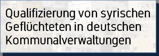 Link zu Kommunales Know-how - Qualifizierung von syrischen Geflüchteten in deutschen Kommunalverwaltungen