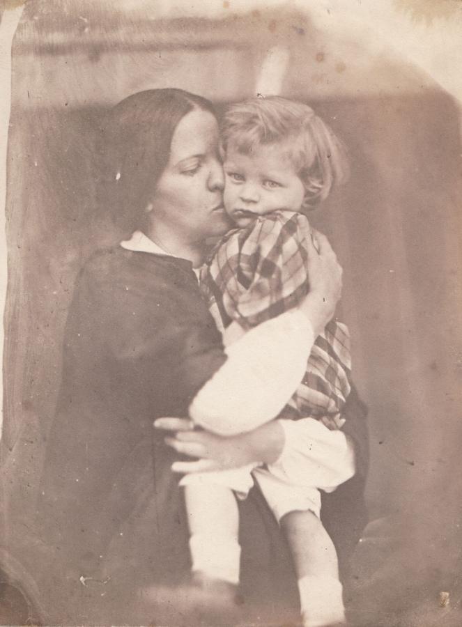 Julie Hagen Schwarz mit Ihrem ältesten Sohn, um 1857, historische Fotografie
